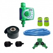 Kit Irrigação Micro Jatos c/ Temporizador Eletrônico