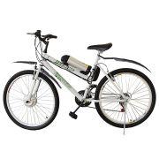 Bicicleta Elétrica Aro 26 Bateria de Litio TecCity + Paralamas