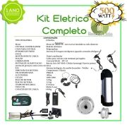 Kit Elétrico 500 Watts P/bike Bat Litio + Aro