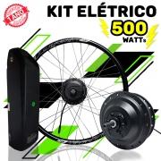 Kit Elétrico para Bicicleta - TecBike - 500 Watts 36V - Aro 27,5