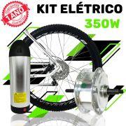 Kit Elétrico para Bicicleta - TecBike - Bateria Cilíndrica - 350 Watts 36V - Aro 26
