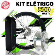 Kit Elétrico para Bicicleta - TecBike - Bateria Preta - 500 Watts 36V