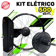 Kit Elétrico para Bicicleta - TecBike - Bateria Preta - 500 Watts 36V - Aro 27,5