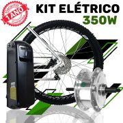 Kit Elétrico para Bicicleta - TecBike - Bateria de Trapézio - 350 Watts 36V