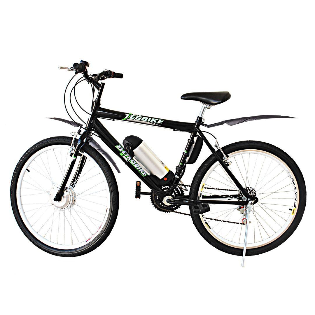 Bicicleta Elétrica Aro 26 BAT. de LITIO TecCity + Paralamas
