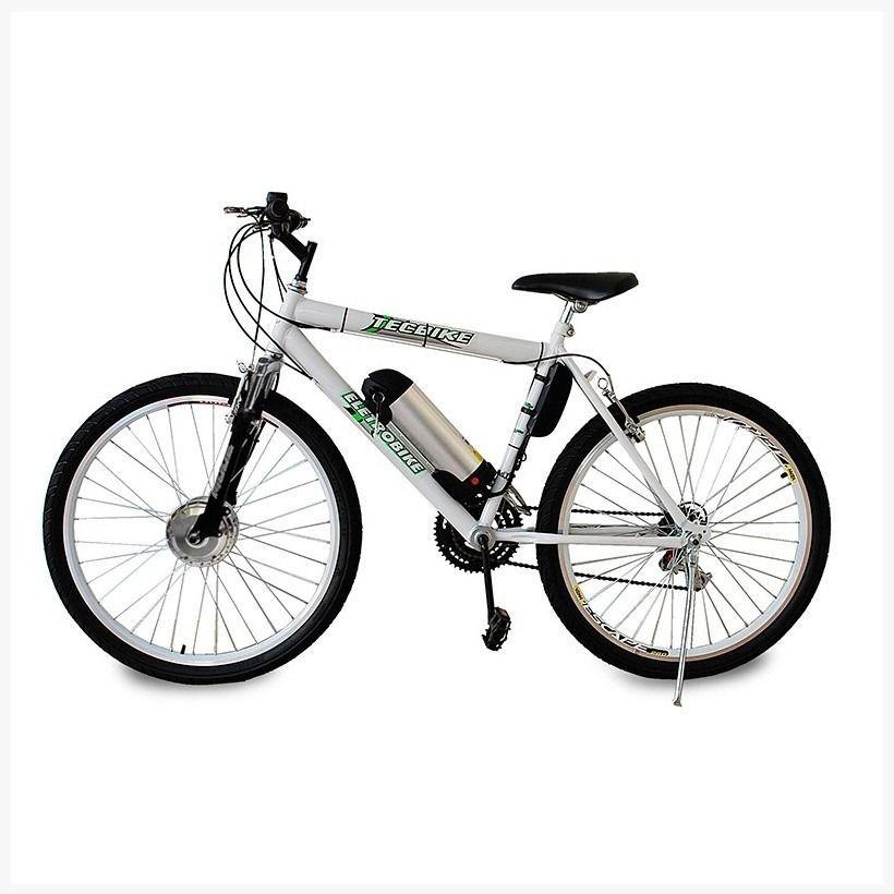 Bicicleta Elétrica Aro 26 BAT. de LITIO TecCity v2 + Bagageiro