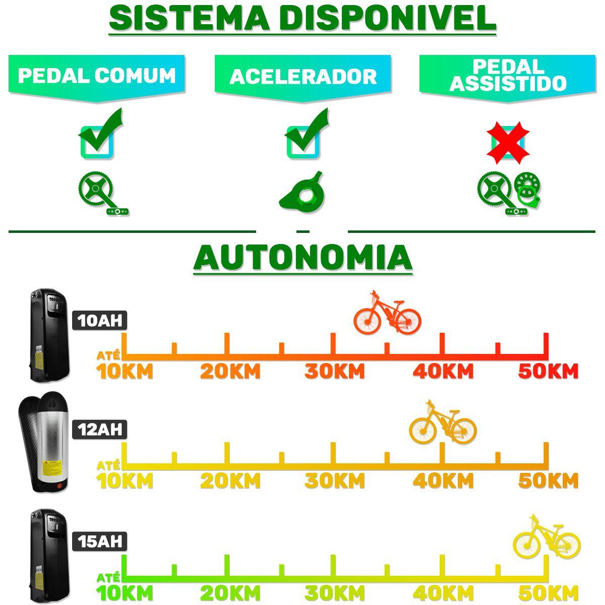 Bicicleta Elétrica Aro 26 Bateria de Litio TecStilo