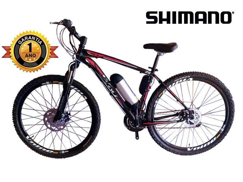 Bicicleta Elétrica Aro 29 AL. BAT. de LITIO TecUltra. + Amortecedor Aluminio