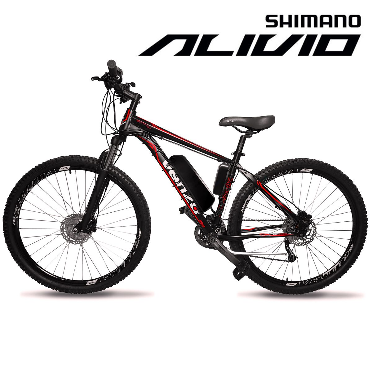 Bicicleta Elétrica Aro 29 Alumínio Bateria de Litio TecFalcon Alivio - 500 Watts