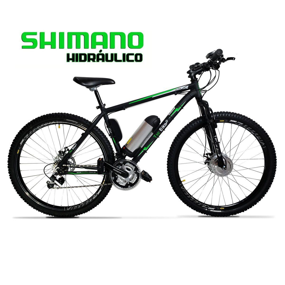 Bicicleta Elétrica Aro 29 Alumínio Bateria de LÍTIO TecUltra 3.0 - Freio Hidráulico - 500 Watts