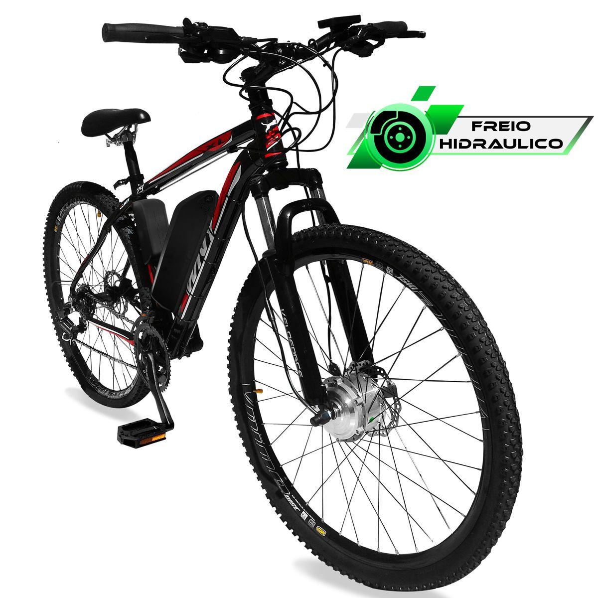 Bicicleta Elétrica Aro 29 Alumínio Bateria de Litio TecUltra - 500 watts - Freio Hidráulico