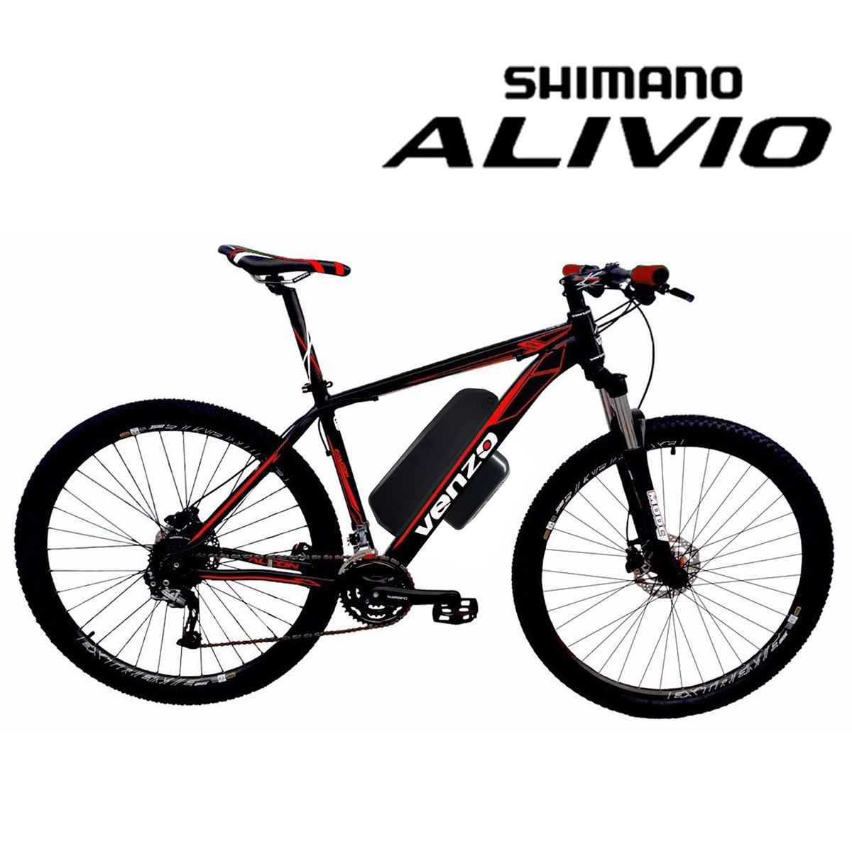 Bike Elétrica Aro 29 AL. BAT. de LÍTIO TecFalcon ALIVIO - 500W