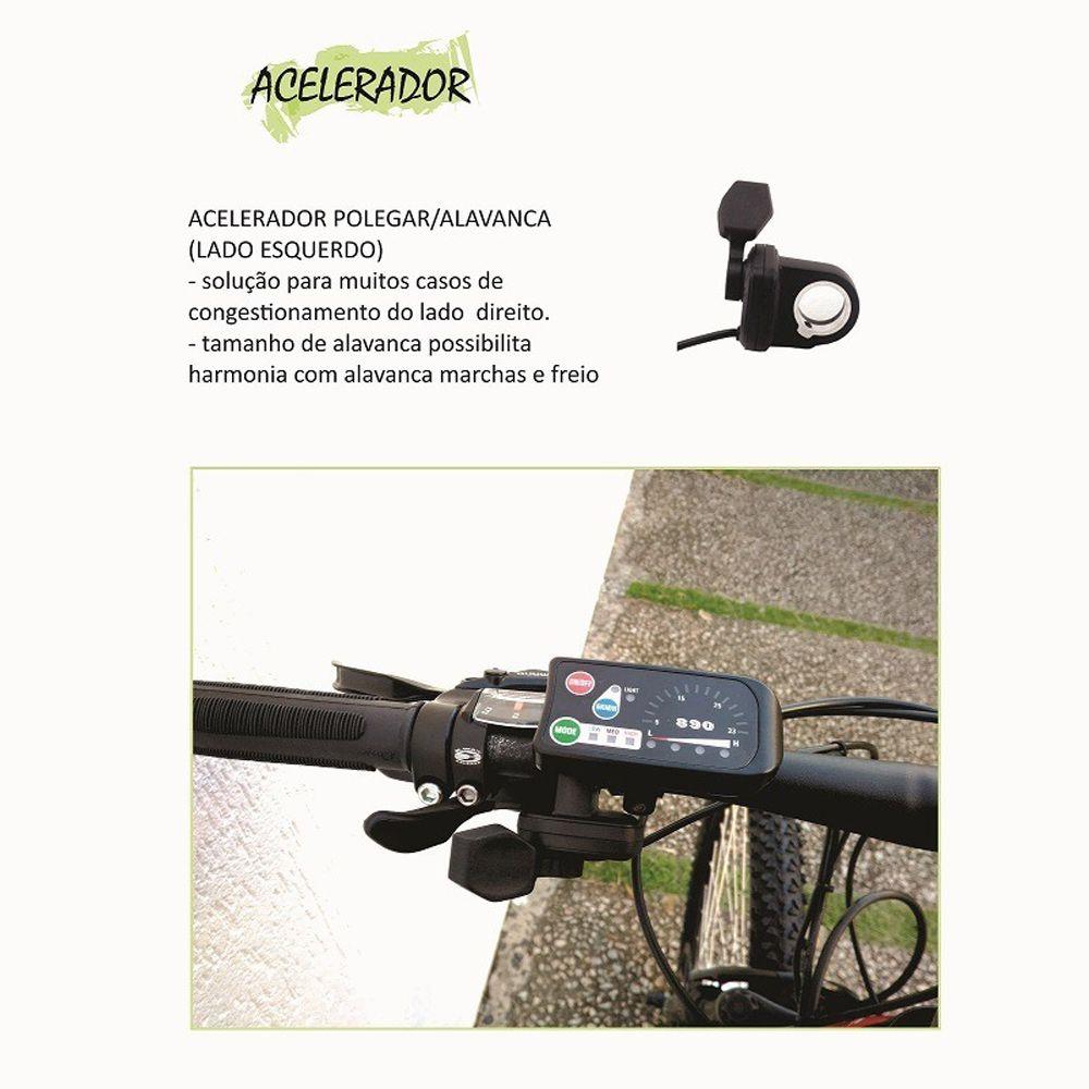 Kit Conversão Bike Elétrica Bateria 13 Ah Motor 350w