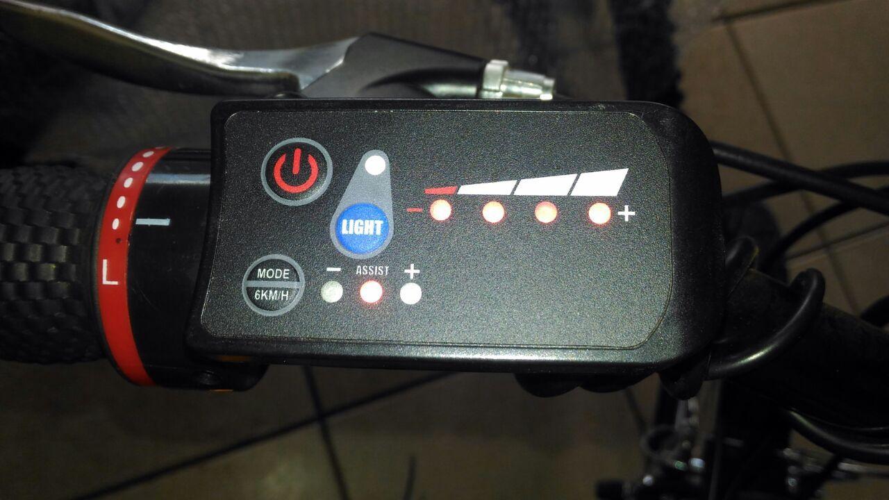 Kit Elétrico 350 W Bicicleta - Bateria Litio Para Freio Disco Aro Preto