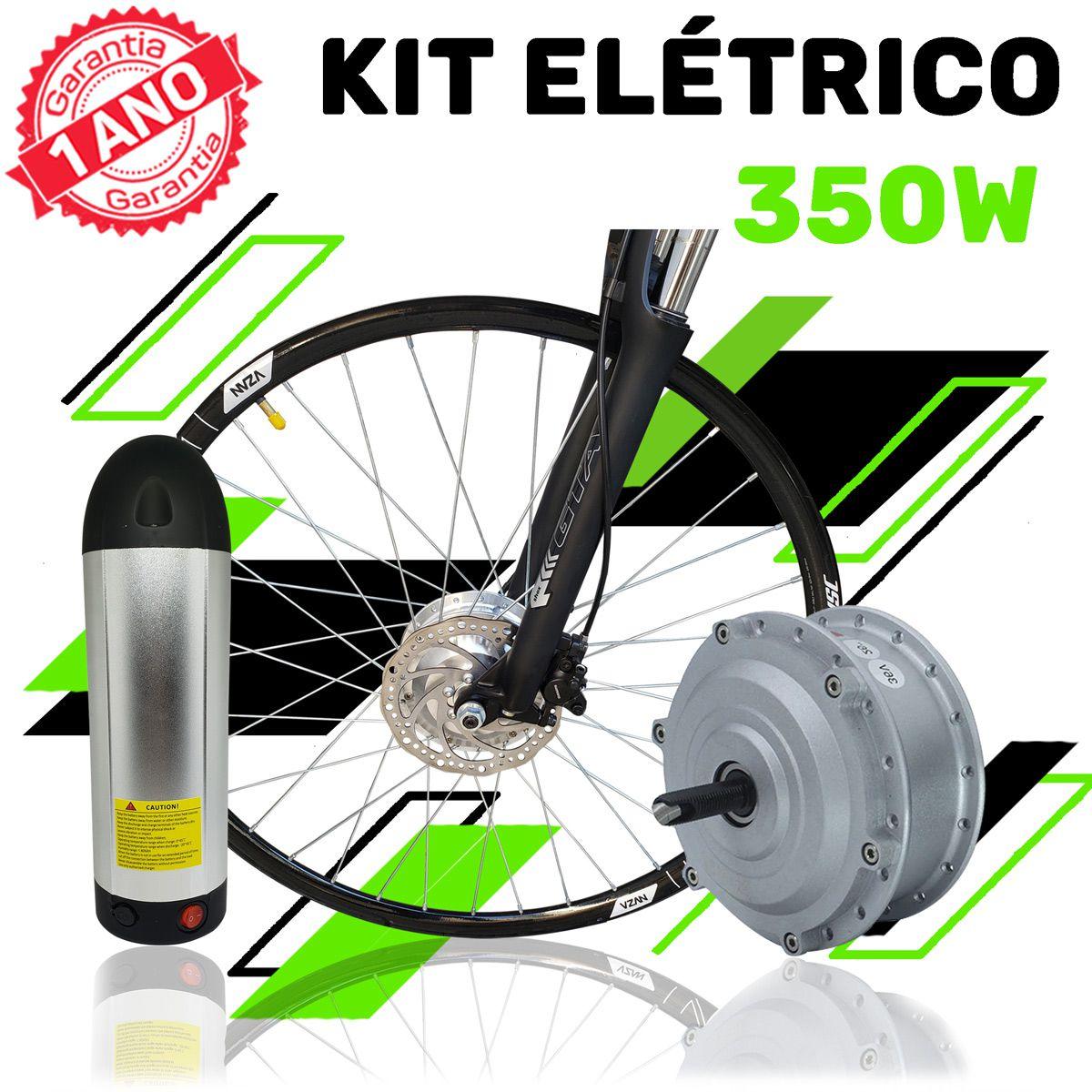 Kit Elétrico 350 W Bicicleta - Bateria Litio Para Freio V Brake (Aro 26)