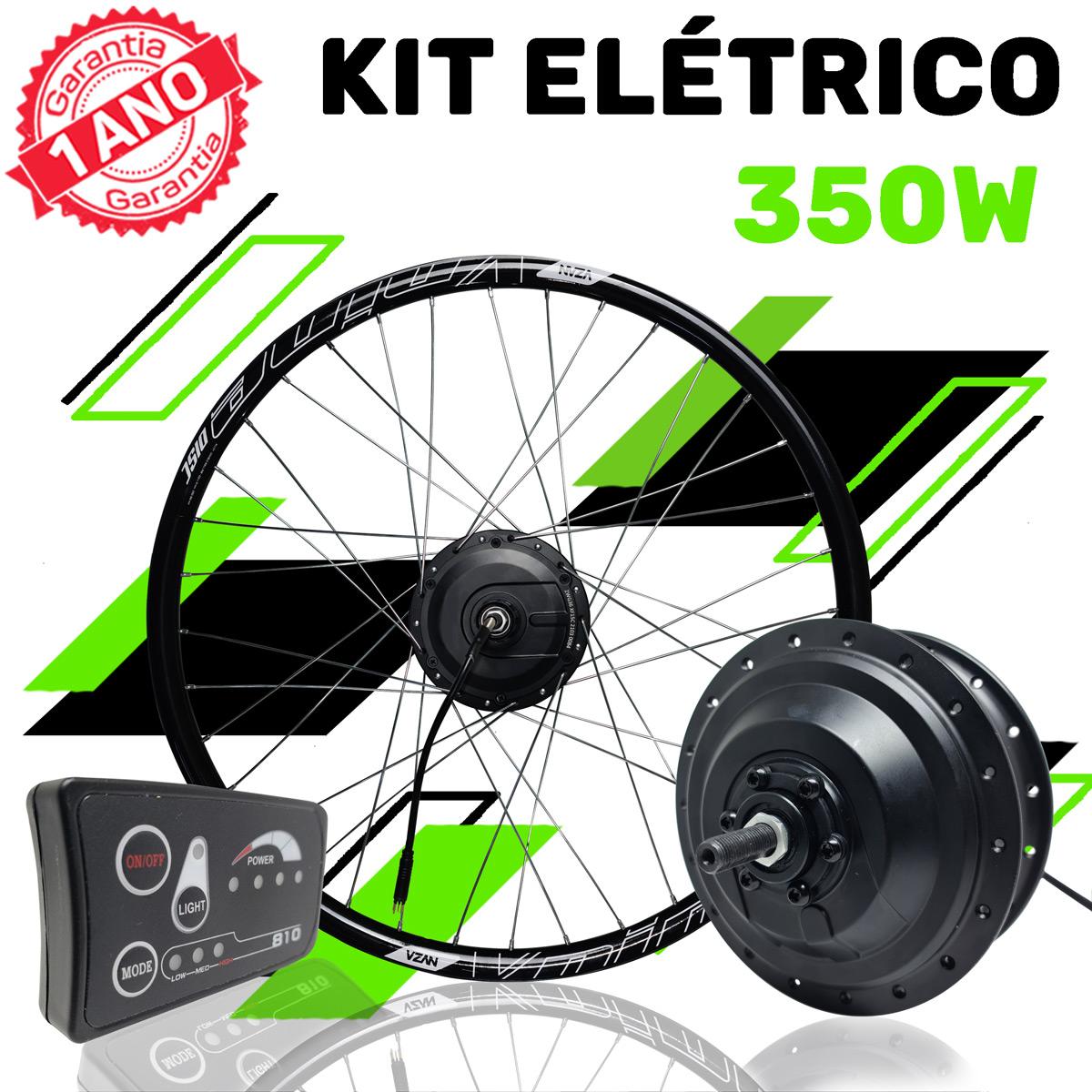 Kit Elétrico para Bicicleta - TecBike - 350 Watts 36V
