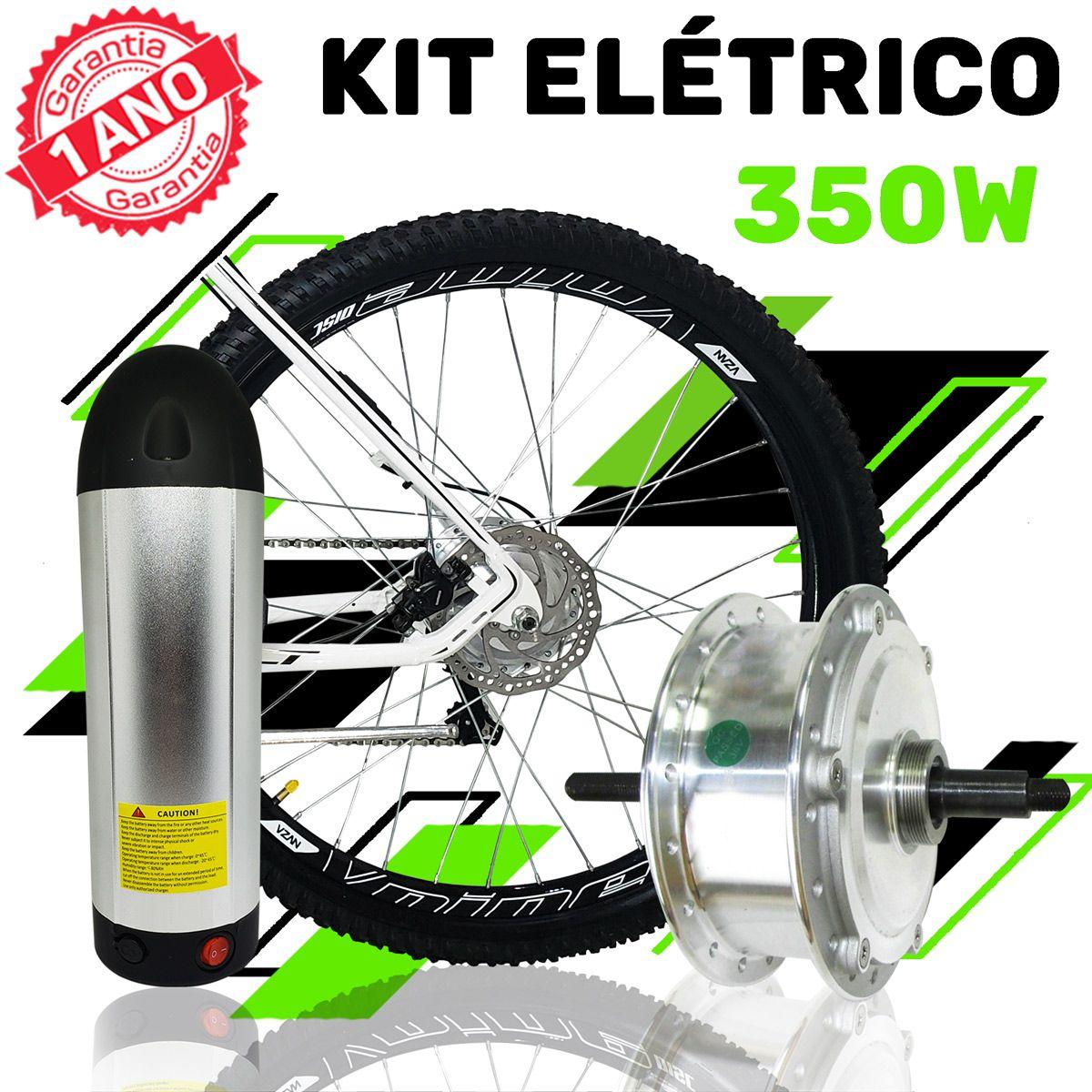 Kit Elétrico para Bicicleta - TecBike - Bateria Cilíndrica - 350 Watts 36V - Aro 20