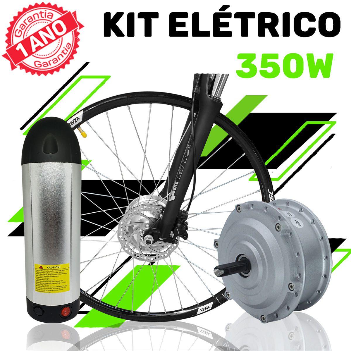 Kit Elétrico para Bicicleta - TecBike - Bateria Cilíndrica - 350 Watts 36V - Aro 29