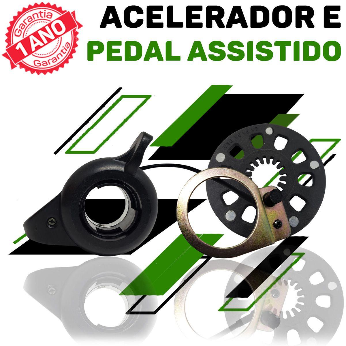 Kit Elétrico para Bicicleta - TecBike - Bateria de Trapézio - 350 Watts 36V - Aro 26