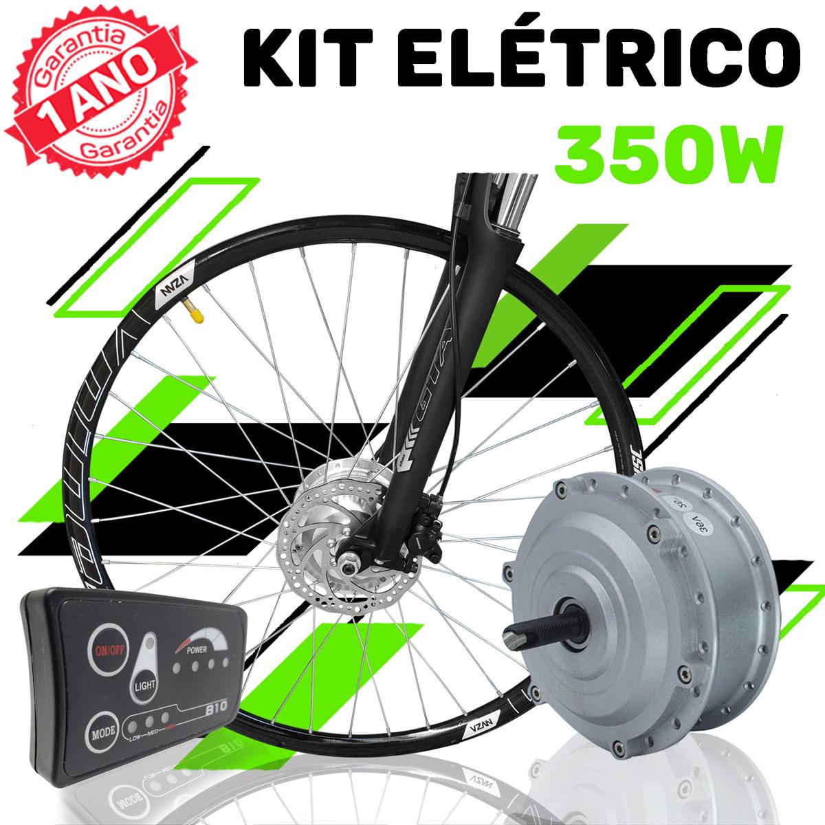 Kit Elétrico para Bicicleta - TecBike - 350 Watts 36V - Aro 27,5