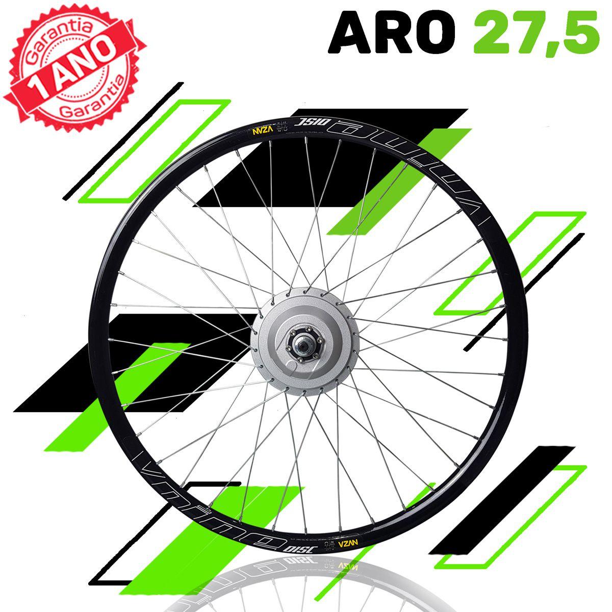 Kit Elétrico para Bicicleta - TecBike - Bateria de Trapézio - 350 Watts 36V - Aro 27,5