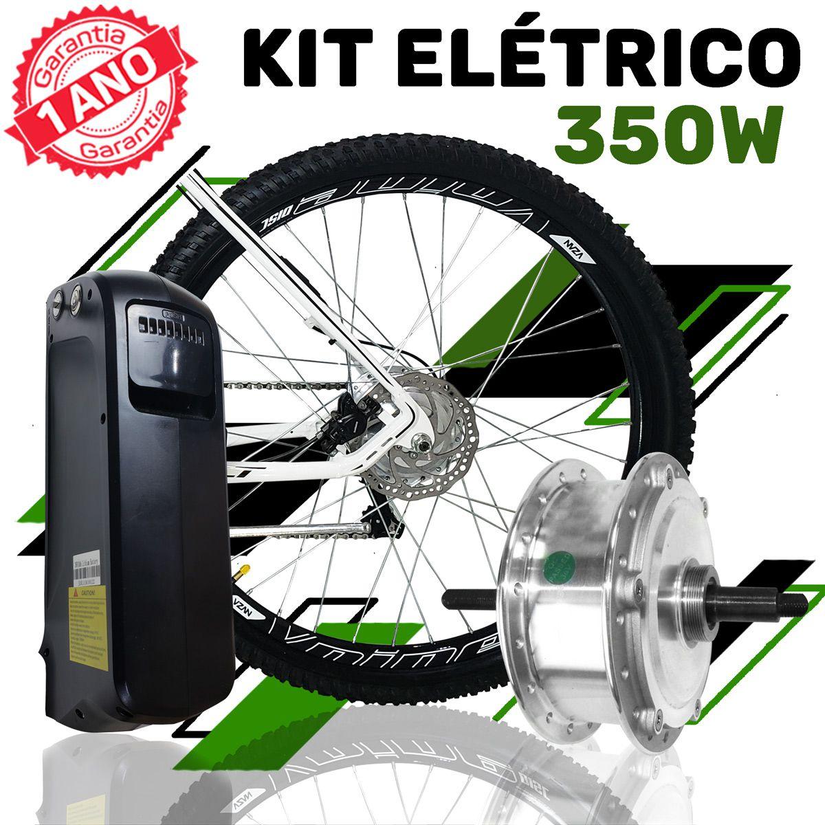 Kit Elétrico para Bicicleta - TecBike - Bateria de Trapézio - 350 Watts 36V - Aro 29