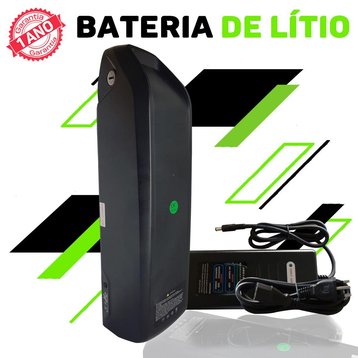 Kit Elétrico para Bicicleta - TecBike - Bateria Preta - 500 Watts 36V - Aro 26