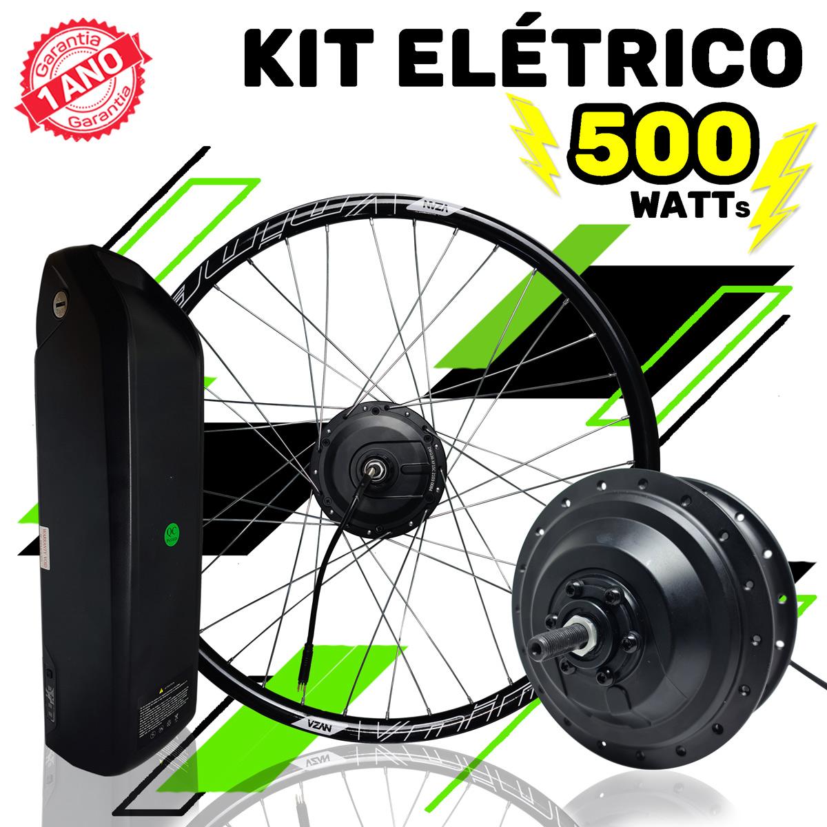 Kit Elétrico para Bicicleta - TecBike - 500 Watts 36V