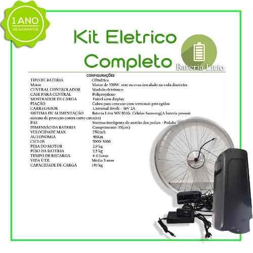 Kit Elétrico TecBike Bateria Trapézio