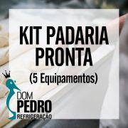 Kit Padaria Pronta - Armário, Masseira, Forno, Modeladora e Cilindro (5 Equipamentos)