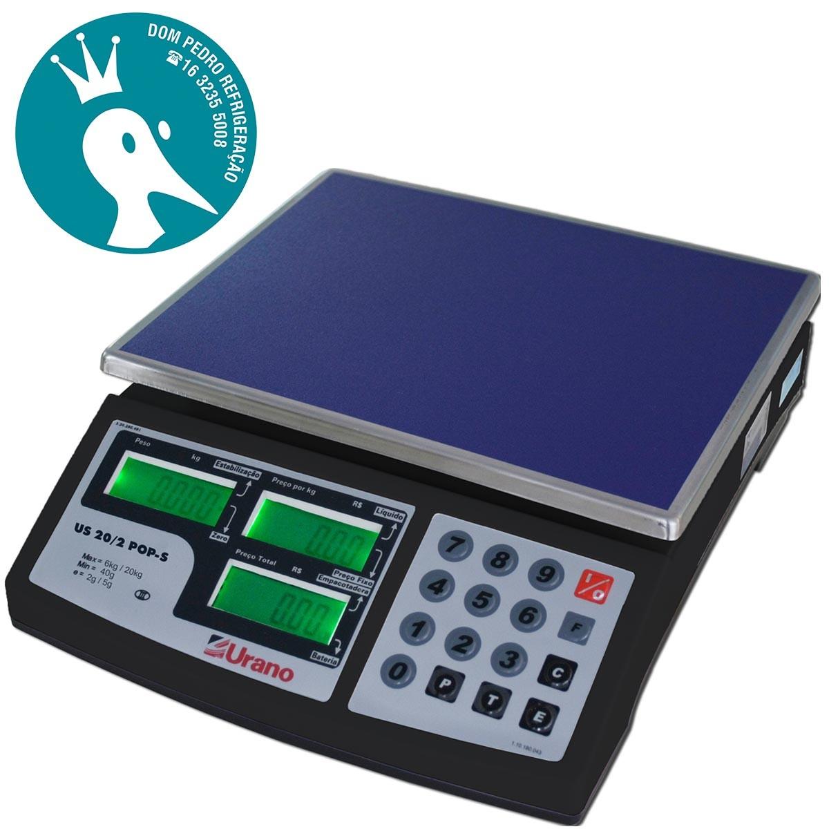 Balança Eletrônica Digital Computadora - POP-S 20/2 - Bateria - Urano