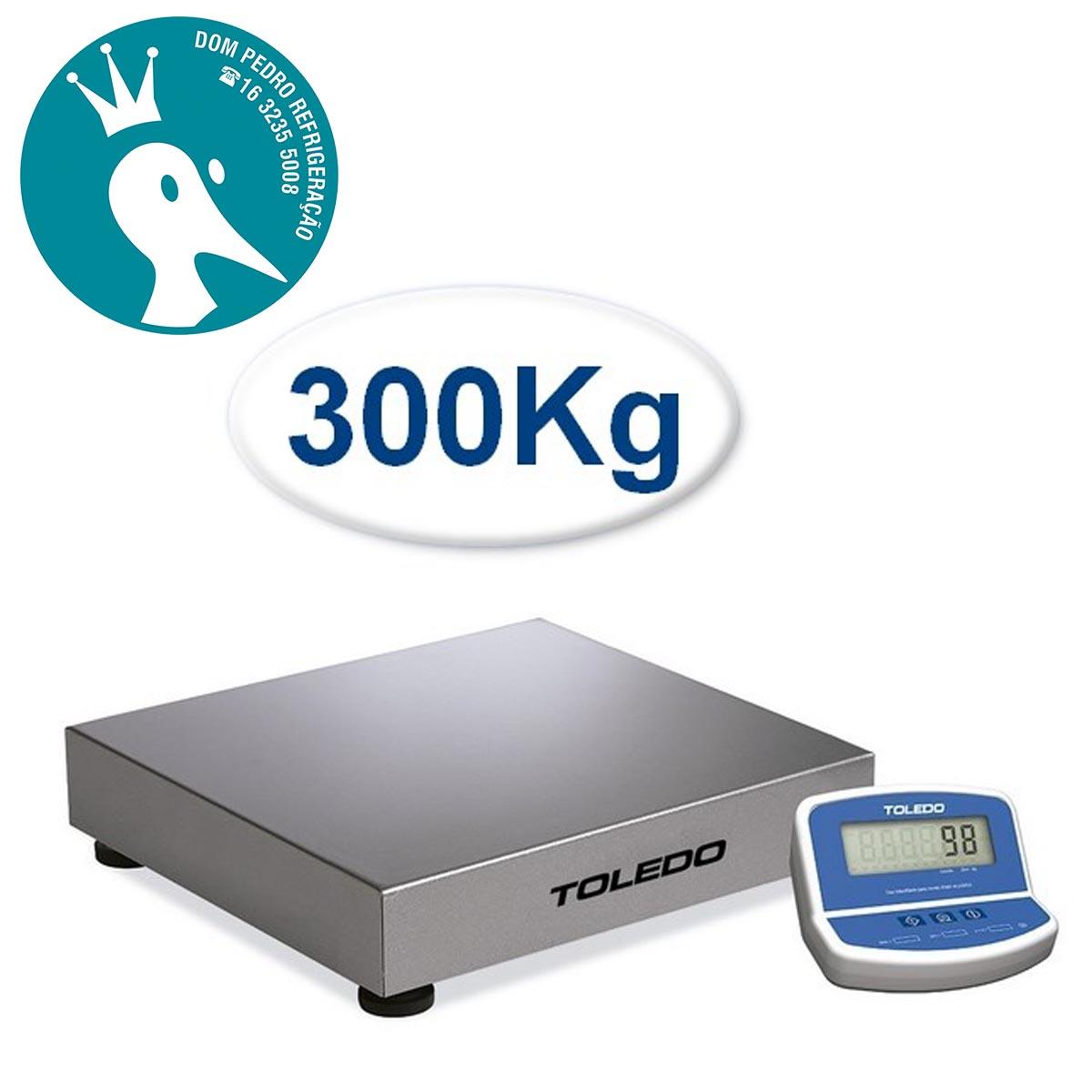 Balança Eletrônica Toledo Modelo 2098 300Kg x 50g Plataforma Inox sem Coluna