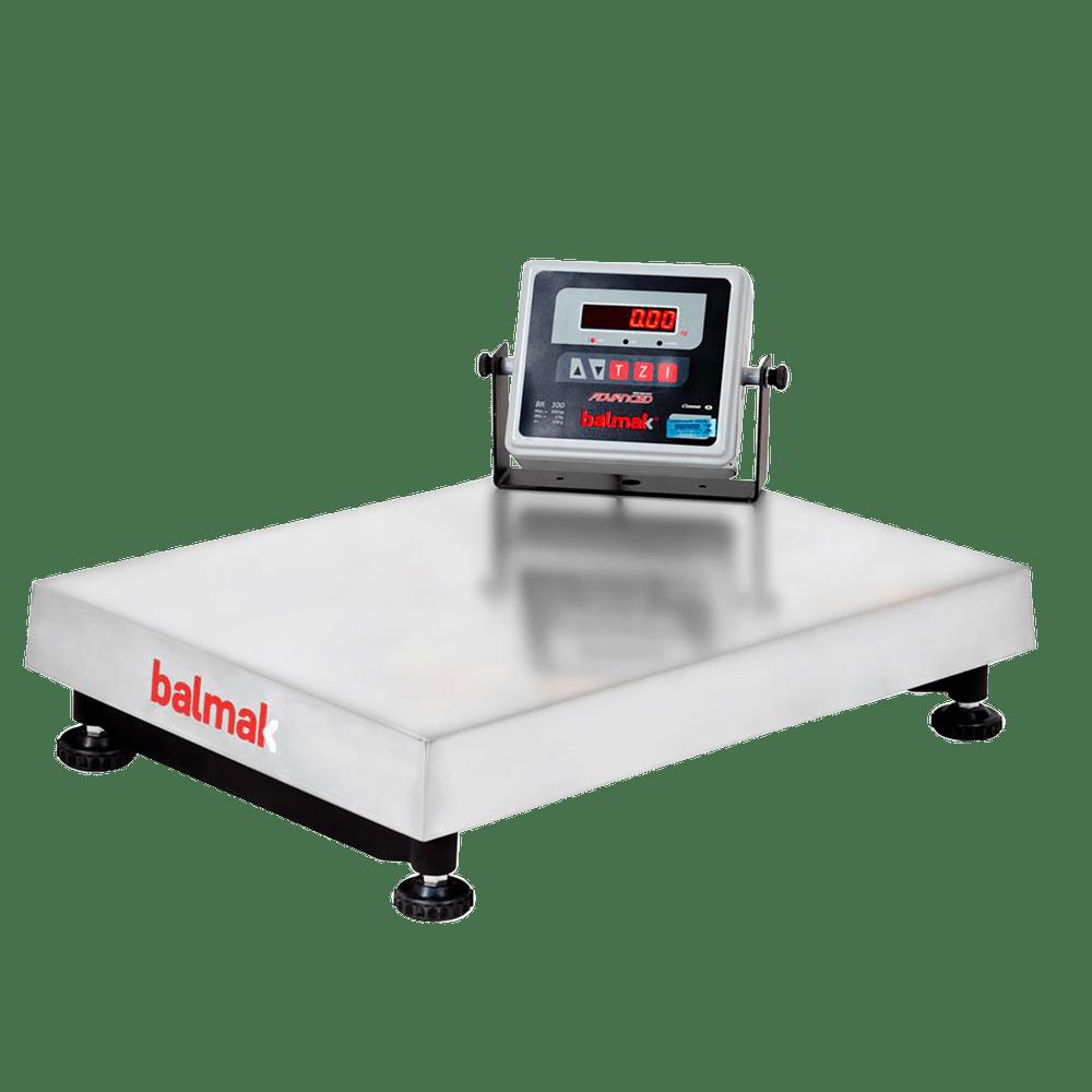 Balança Plataforma Digital 300kg Inox com Bateria - Balmak - Dom Pedro Refrigeração