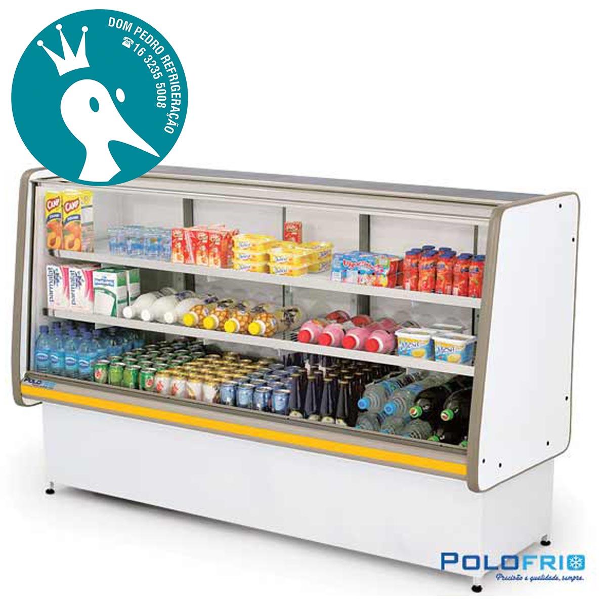 Balcão Refrigerado Pop Luxo Vidro Reto 1,25 - Polofrio