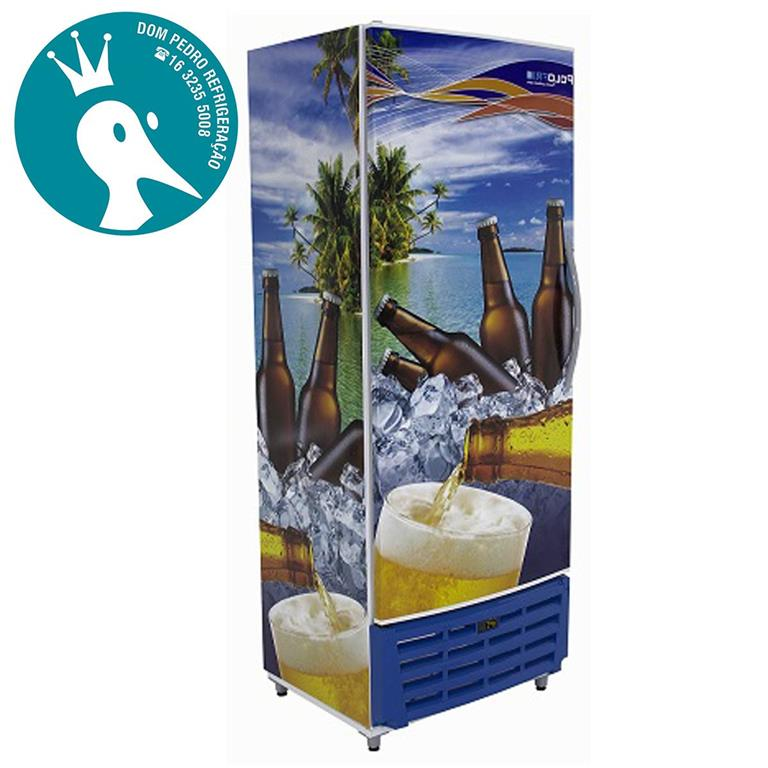 Cervejeira 450L Porta Sólida Adesivada Polofrio