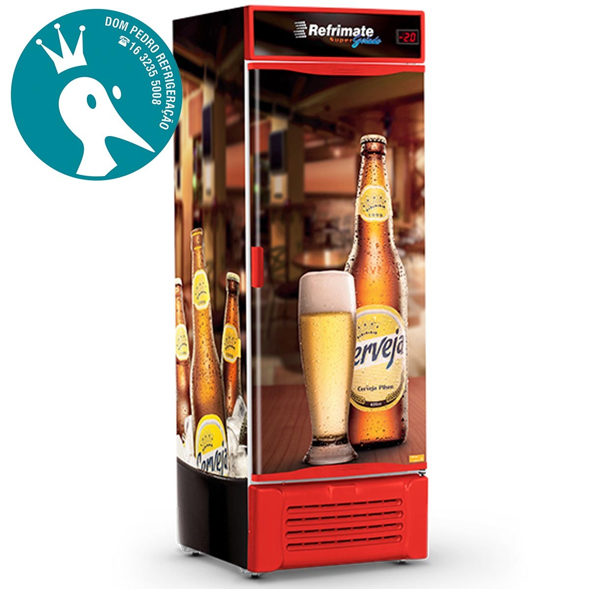 Cervejeira Refrimate VCC 600S Adesivo Bar 600 Litros Porta Sólida