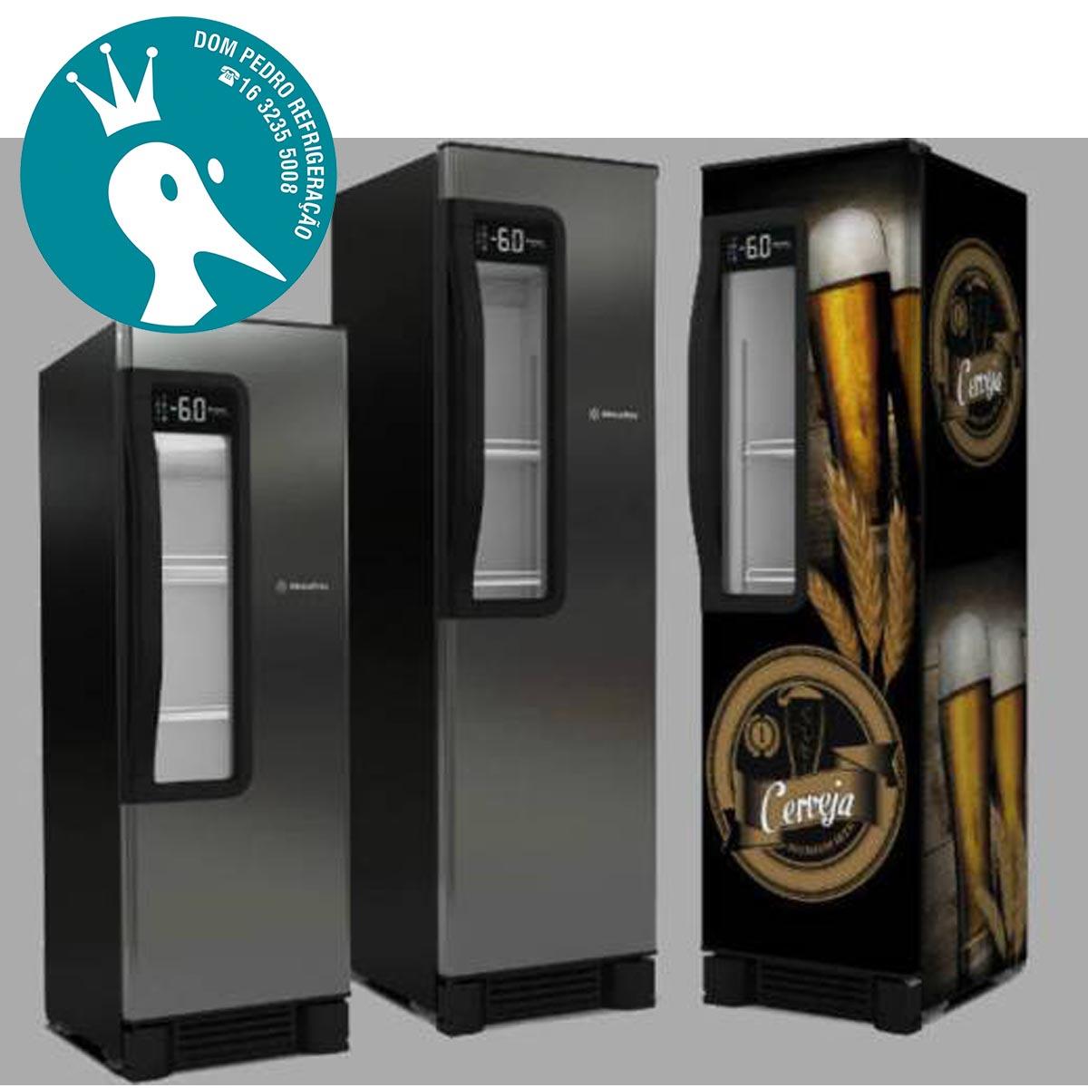 Cervejeira Vertical Aço Inox 1 Porta com Visor 324L Beer Maxx 300 - VN28TE - Metalfrio