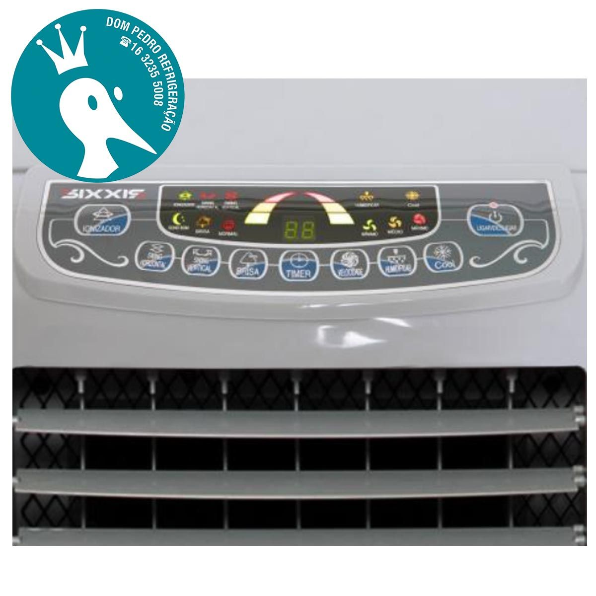 Climatizador Umidificador de Ar Frio Sixxis SX 015A com 3 Velocidades e Controle Remoto 110V