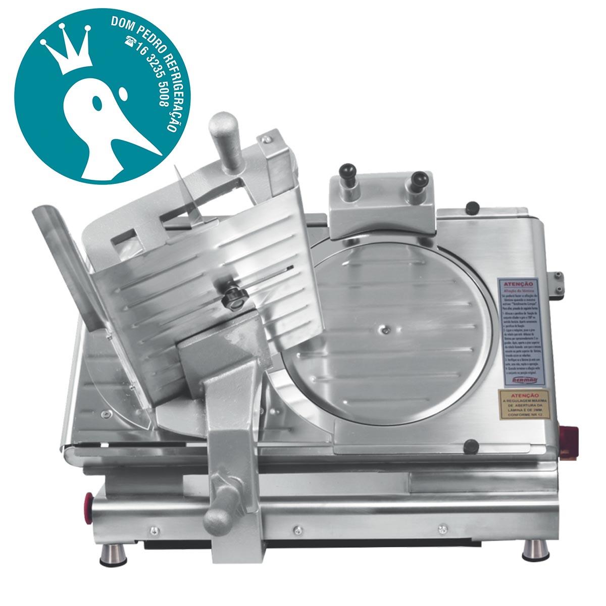 Cortador Fatiador de Frios BM-19 NR-12 SemiAutomático Inox 300 mm Bermar