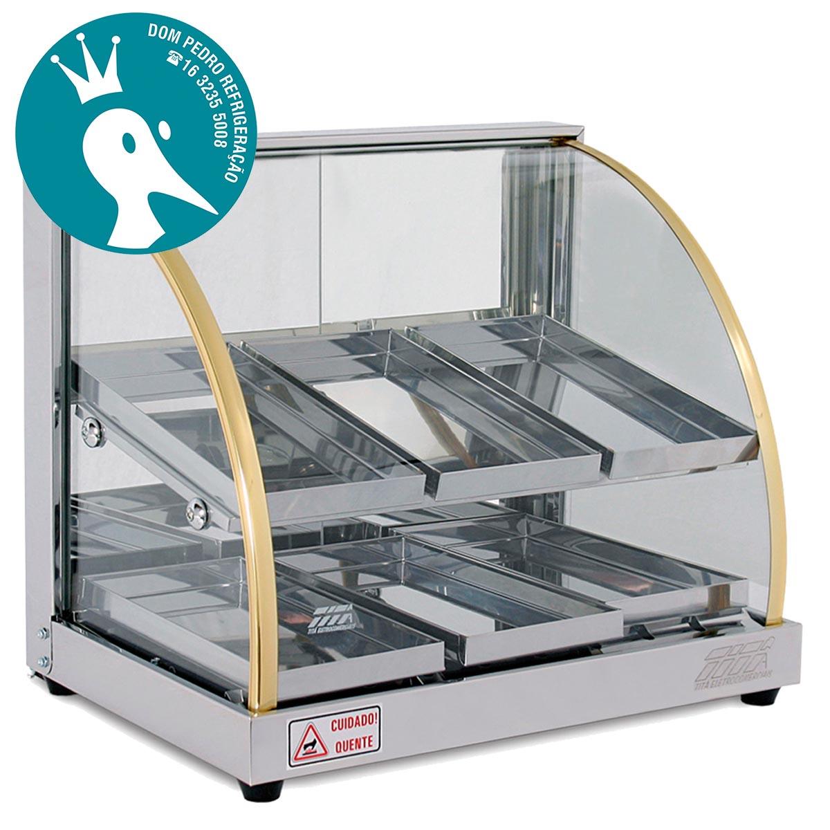 Estufa para Salgados Vidro Curvo 6 Bandejas W6BD Titã