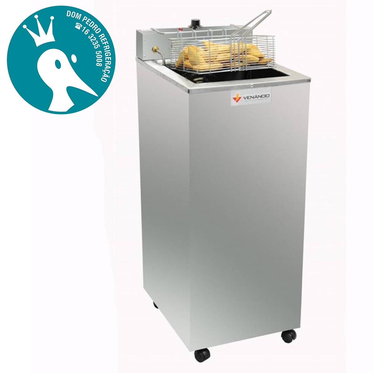 Fritadeira Elétrica Industrial de Gabinete Água/Óleo 23 Litros - Venâncio SFAO5