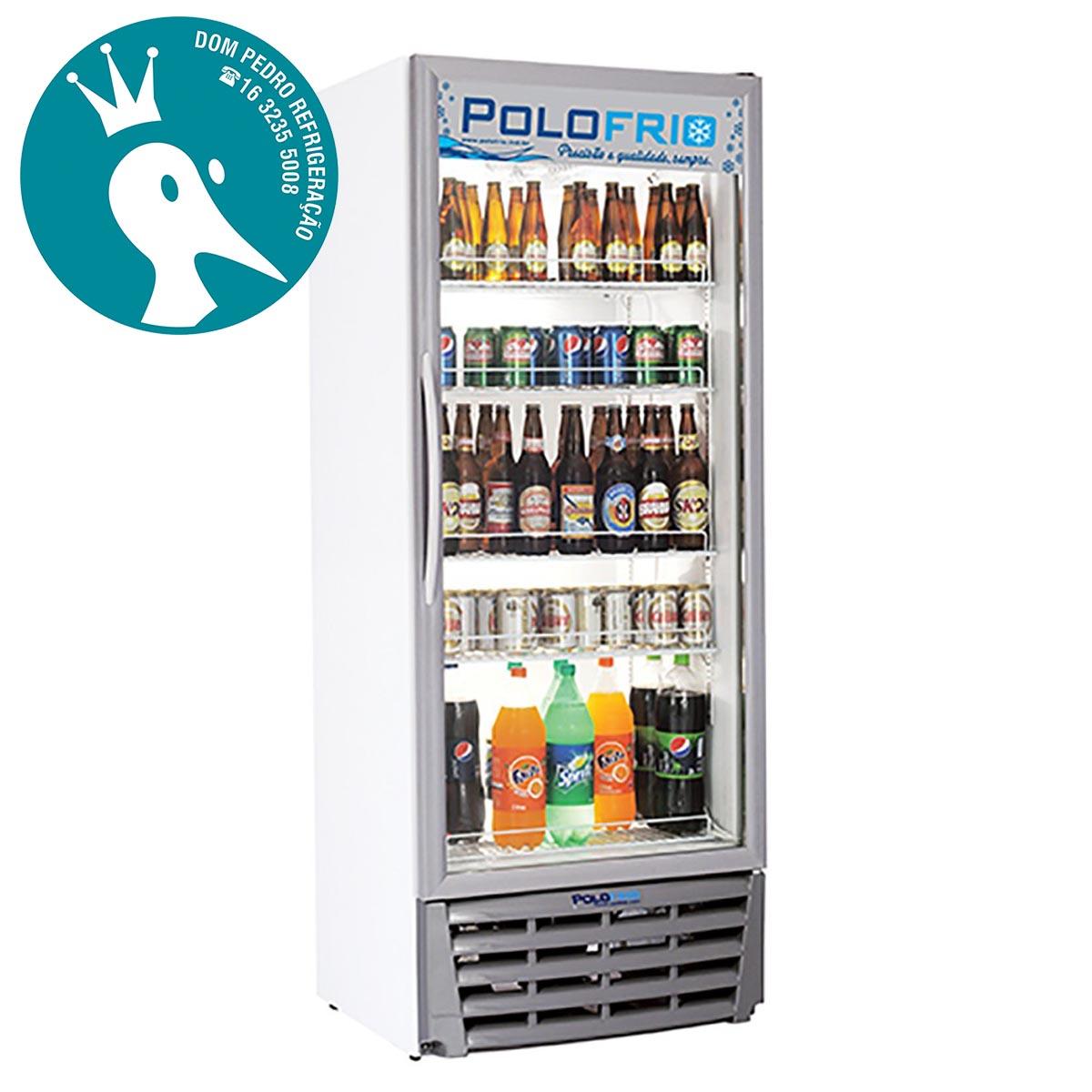 Geladeira Visa Cooler 450L Porta de Vidro Duplo - Polofrio