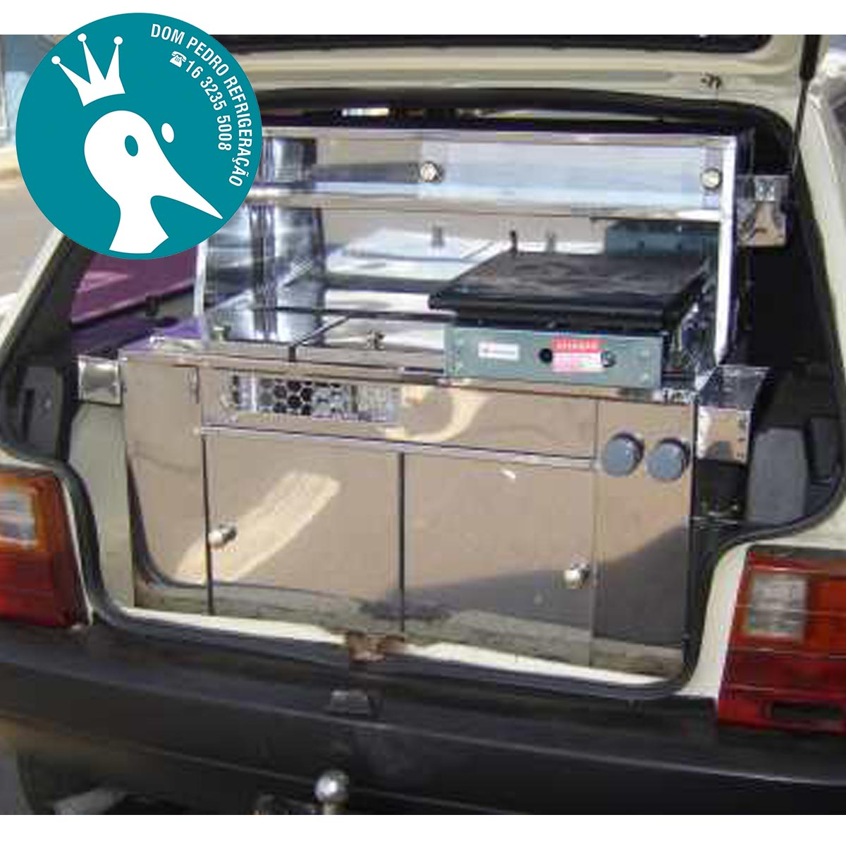 Kit Hot Dog e Lanche Universal - 2 em 1 Para Veículos Hatch
