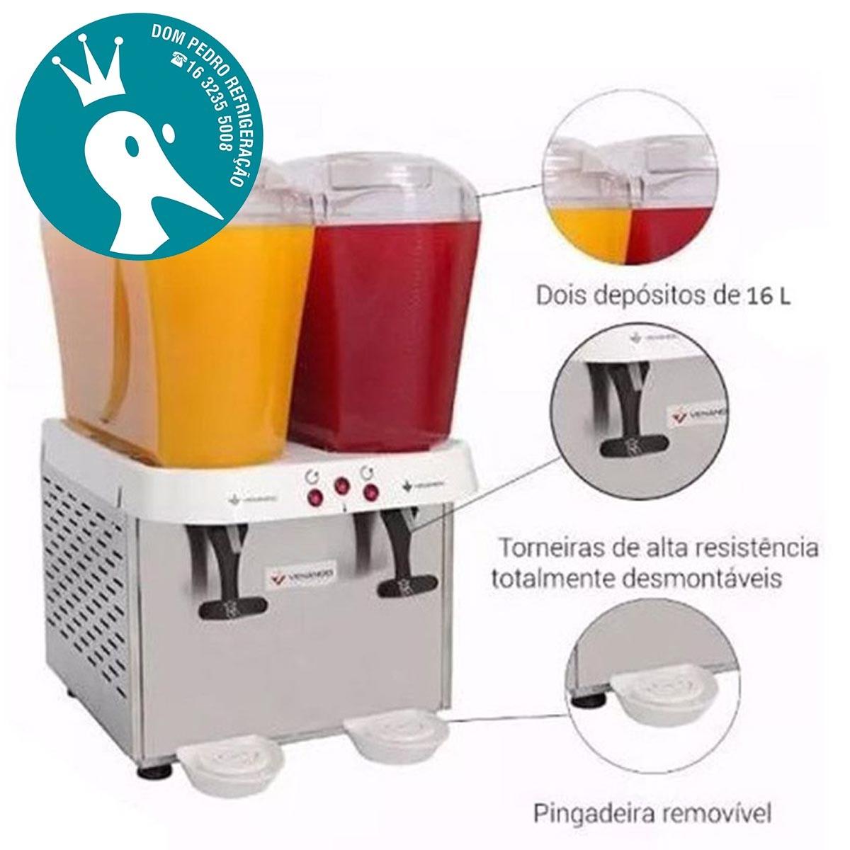 Refresqueira Venâncio com 2 Depósitos de 16 Litros RV216