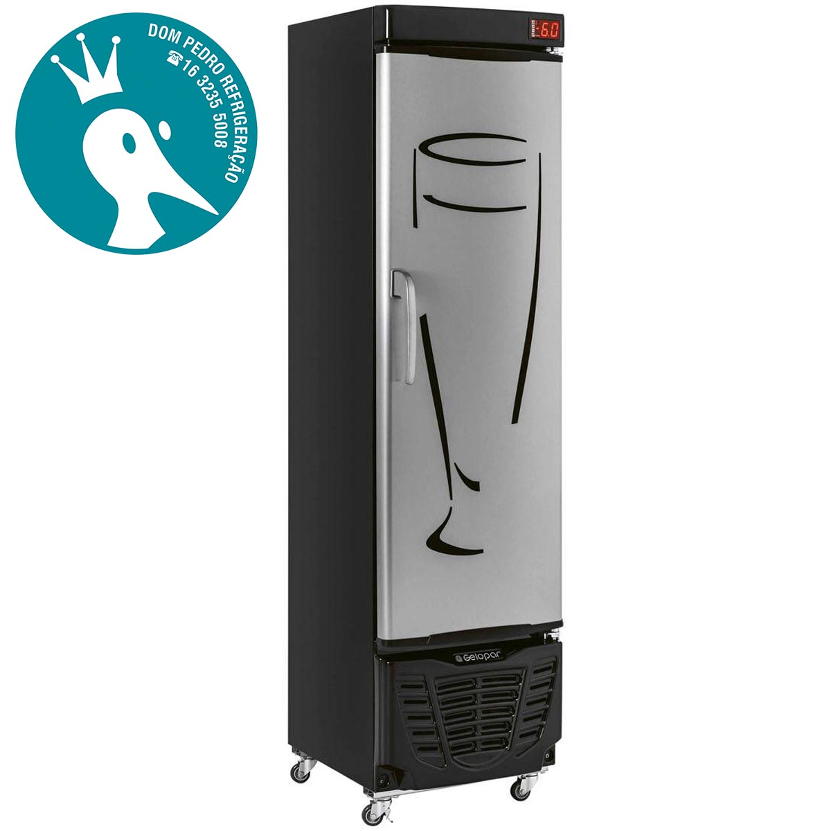 Refrigerador para Bebidas Gelopar Cervejeira GRBA-230 228L Inox