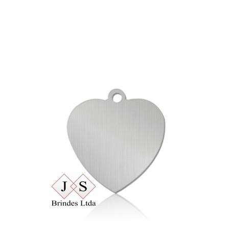 Chapinha P10- pingente coração para corrente (100 peças)