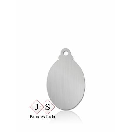 Chapinha P8-pingente oval para corrente (100 peças)