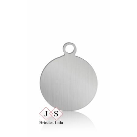 Chapinha P6- pingente redondo para corrente-(100 peças)