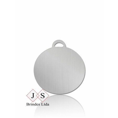 Chapinha redonda C6 para corrente (100 pcs)
