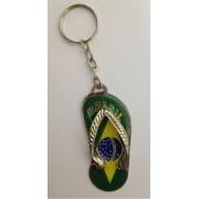 CHAVEIRO BRASIL CHINELO PERSONALIZADO TEMA BRASIL (100 Pçs)